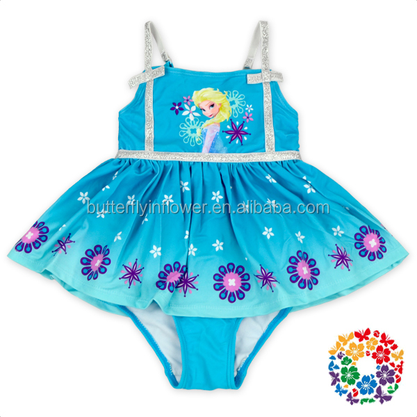 Popular Cartoon Characters Printing Hot Girls Child Bikini Swimwear Baby Girl Swimsuit