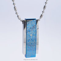 Vogue Stainless Steel Holy Writ Strong Magnetic Necklace