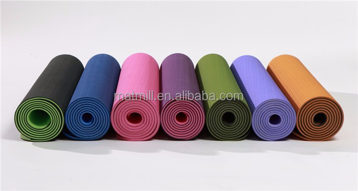 Eco friendly anti-slip tpe yoga mat for lady sexy photo english