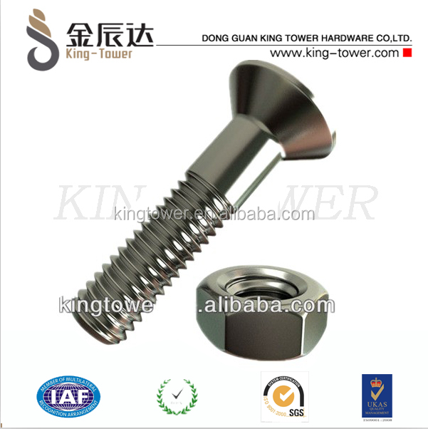 DIN standard countersunk electrical stud bolts and nuts