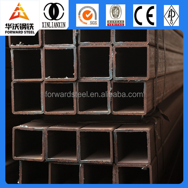 ERW tube steel pipes building material factory Q195 Q235 Q345 rectangular pipe tube