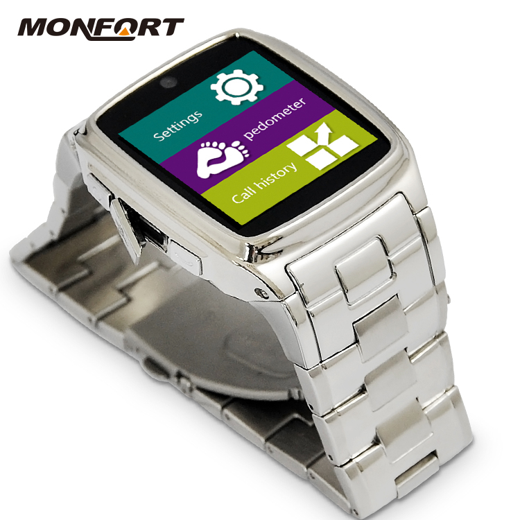 cheapest High quality 2016 touch screen 3G wrist android bluetooth watch tv mobile phone