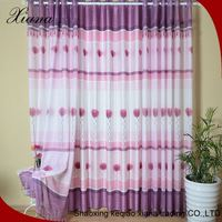 New design unique fancy printed polyester/cotton 3d curtain