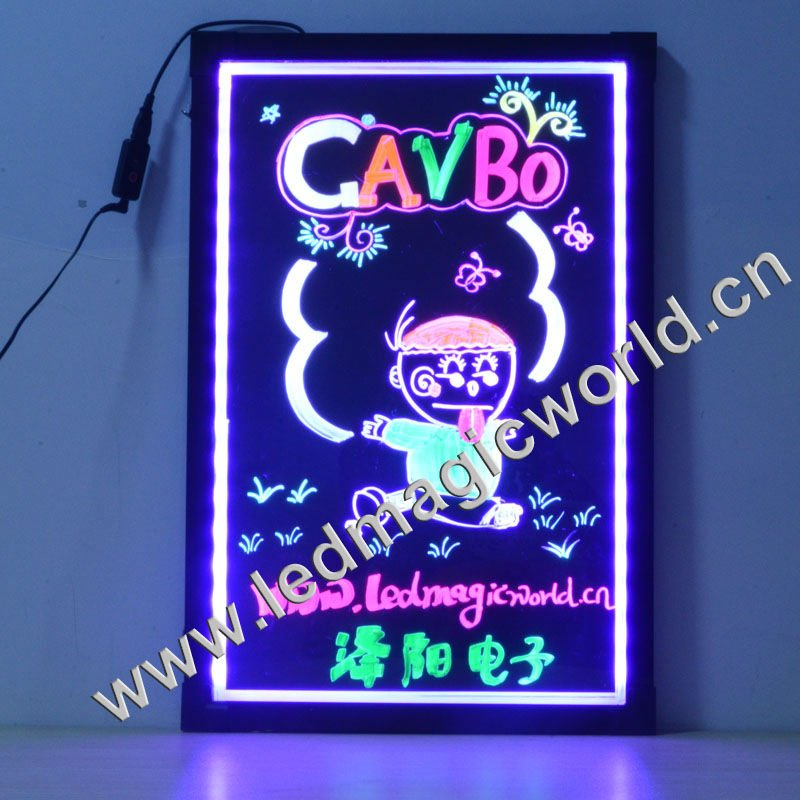 AC100-240V/DC12V/Handwriting/ RGB color SMD LED,sparkle electronic, USB acrylic stand ,led virtual promoter in electronic