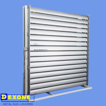 manual/fixed/electric system Aluminum sun louver+ cladding +curtain wall supplier