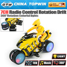 REC333-930B 7CH rc stunt toy car 360 degrees Drift Motorcycle