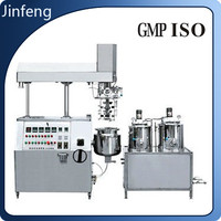 Vacuum cream emulsifying mixer machine, vacuum mixer homogenizer for lotion, cosmetics, emulsion.
