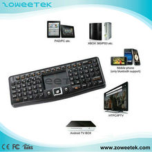 mini wireless keyboard with trackball mouse for android tv stick
