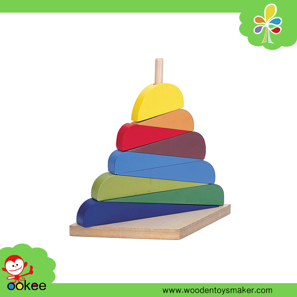 Wooden Montessori 9 Pcs Stacker Peg Board Foreign Kids Games Classic New Toys for Kid 2016