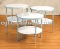 Round Table / 2-tier Table / Circular Table / Wooden Table