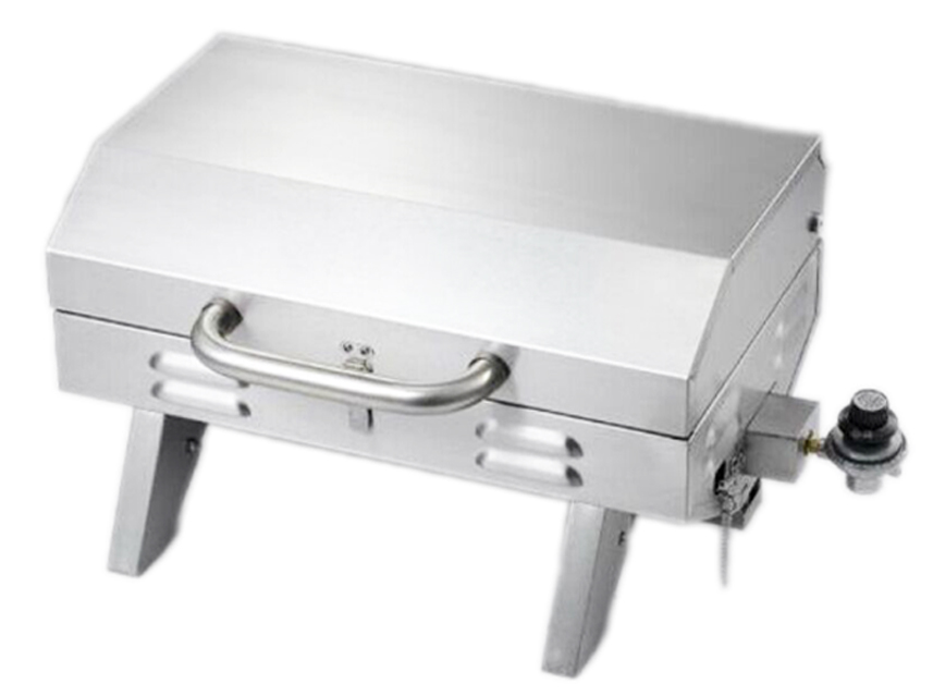 portable mini stainless steel table top gas bbq barbecue grills for camping outdoor kitchen. Black Bedroom Furniture Sets. Home Design Ideas