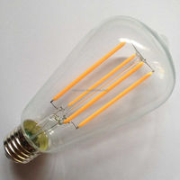 enery saving long LED filament cob ST64 bulb lamp light vintage