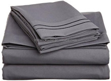 100% polyester microfiber fitted sheet sets including flat sheet pillowcase and fitted sheet