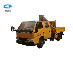 Small truck folding boom truck mounted crane