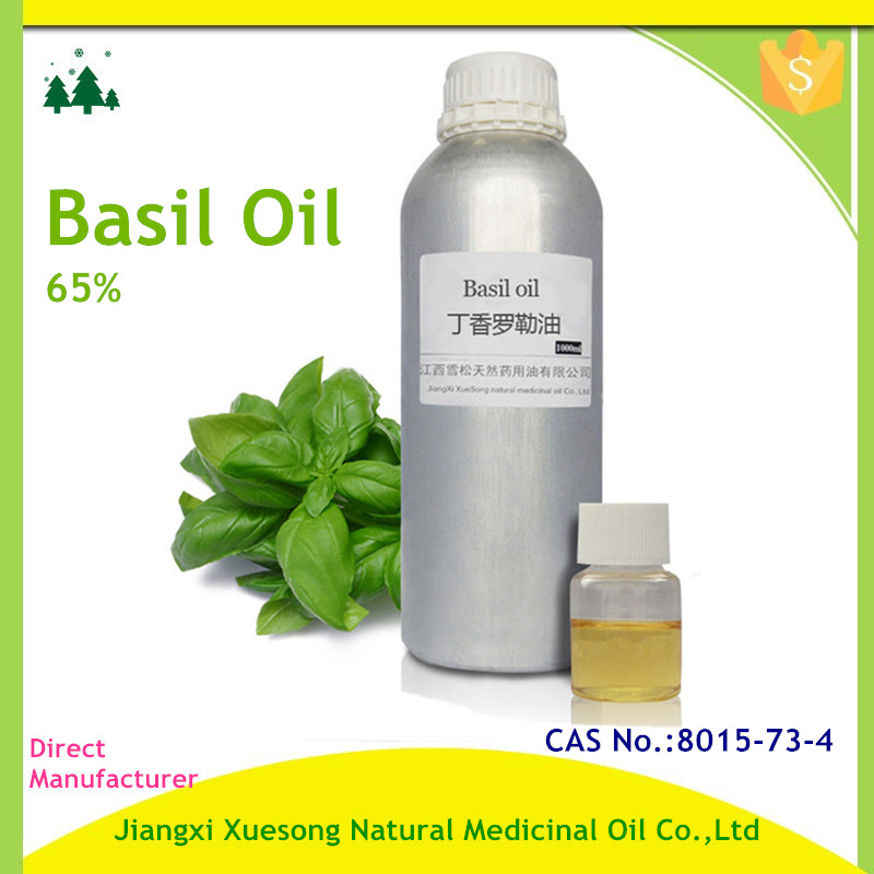 Basil Essential Oil. 100% Pure, Undiluted, Therapeutic Grade
