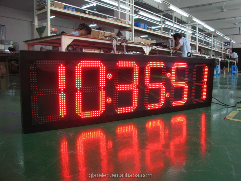 Outdoor Waterproof Large LED Timer Digital Race Clock