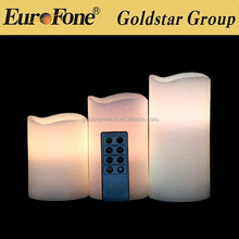 fashional remote control led candle with multi colour changing function