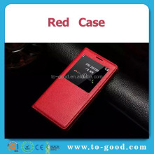 Fashion Automatic Wake-up Flip Windown Design PU Leather Smart Phone Case For Samsung Galaxy A7(Red)