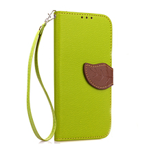 Stand Leather Case Flip Wallet Style Card Holder Lanyard Hand Hung Soft TPU Mobile Phone Leather Case for iphone 8