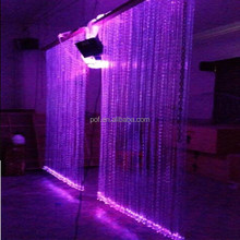 RGBW DIY Safey fiber optic waterfall light curtain