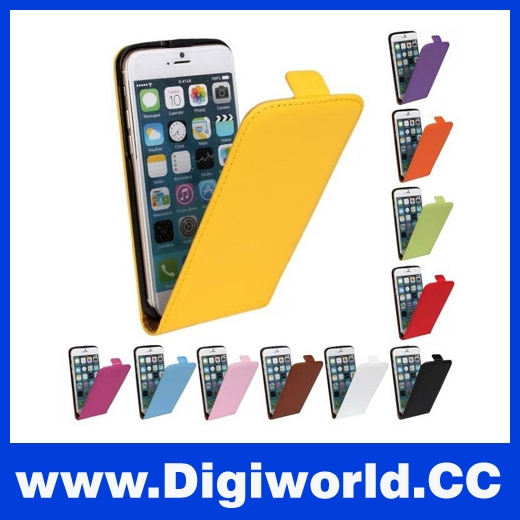 Genuine Leather Case for iPhone 5/ 5s/ 6/ 6s/ 6 plus Flip Cover Ultra Thin With Magnetic Flip