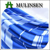 Mulinsen Textile Printed Poly Spun Knitting Polyester Blue and White Fabric