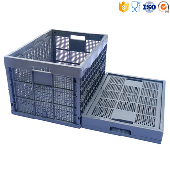 80x58x50cm Food Grade vented type Collapsible crates and basket