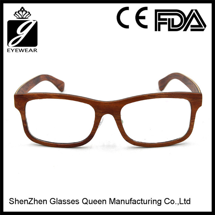 2016 full year fashionable eyeglass frames wood reading glasses from ShenZhen Glasses Queen