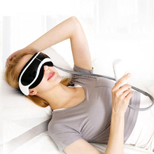 2018 new year promotion folding eye massager with USB download music and intelligent air pressure to relieve eyestrain