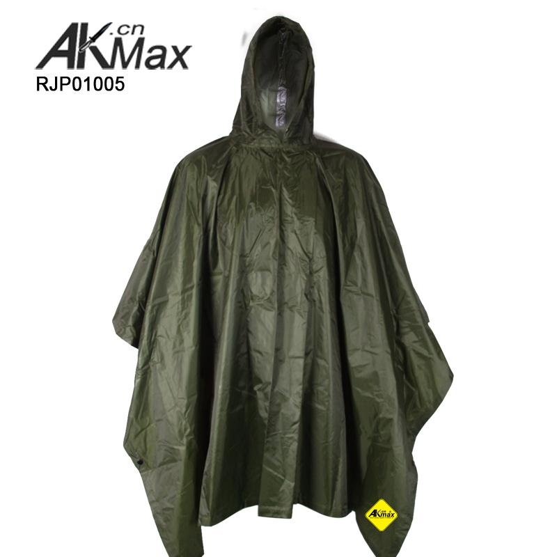 Tactical style rain poncho for motorcycle target rain poncho made in China