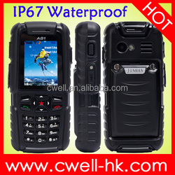 IP67 Mobile Phone Waterproof 2 Inch Support Outdoor Sports Tools like Air Pressure Altitude JINHAN A81 Unlocked