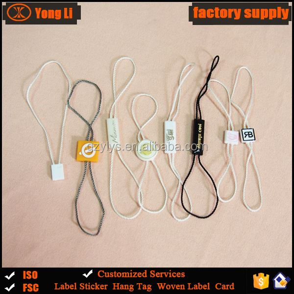 High quality plastic seal tag / hang tag plastic string
