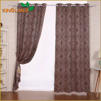 2016 Top quality polyester fancy designer fabric curtain church curtain
