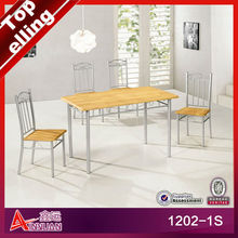 1202-1S Top sale malaysia beech wooden dining table set/wooden dining table and chair