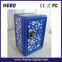 10mm bulletproof metal sheet box toy mini safe automatic birthday gift old safes for sale