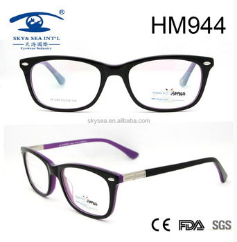 2017 new style fashion best seller acetate optical frame for wholesale