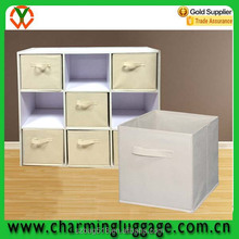 OEM custom color fabric Foldable Cloth Storage Cube Basket Bin