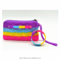 China Supplier Wholesale Silicone Women Zip Clutch Wallet