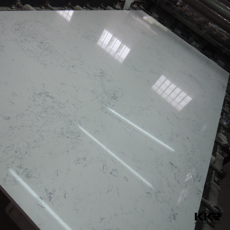 frozen white quartzite slabs, big quartz slab, foshan quartz stone