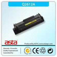 Bk copier toner,toner powder,toner reset chip q2612a
