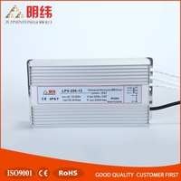 Factory price wholesale high power rainproof led driver power supply LPV-250-12