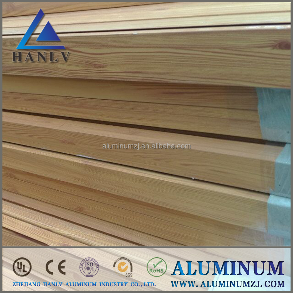 60*30 wood grain greenhouse oval decorative aluminum extrusion profile