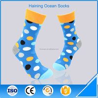 100 cotton mens colourful socks with dot