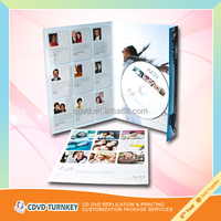 instruction 4.7GB DVD replication with postcard printing