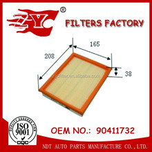 Wholesale Car parts Auto air filter 90411732 C2256 with good quality