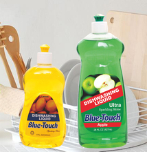 blue touch powerful degreasing dishwashing liquid detergent-with lemon/apple scent