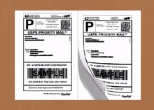 Half Sheet Self Adhesive Shipping Labels for Laser & Inkjet Printers