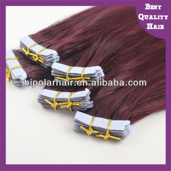 100% Virgin remy tape hair human hair extensions