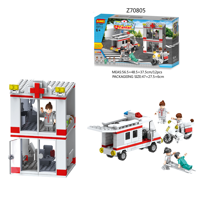 2017 Hot Selling Educational Emergency Center Series Building Block Set