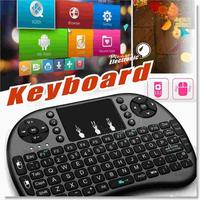 Air Mouse Combo 2.4G Mini i8 Wireless Keyboard with Touchpad for PC Pad Google Andriod TV Bo bo360 PS3 HTPC/IPTV Smartphoones(OT